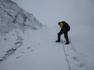 From bog to snow and ice.. Wellies to crampons and ice axe...