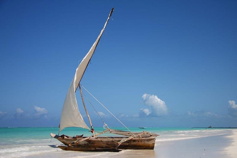 Boat on beach - Zanzibar